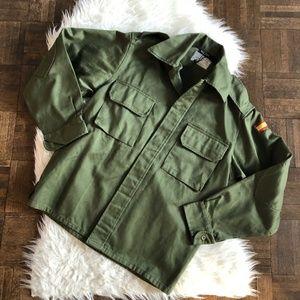 Nasty Gal Medium Green Khaki Utility Shirt NWT